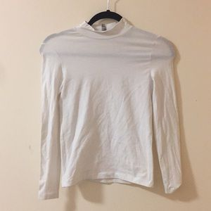 White fitted mock turtleneck